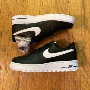 New Nike Air Force 1 '07 AN20 Black White